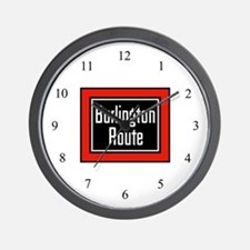 Burlington Route Wall Clock