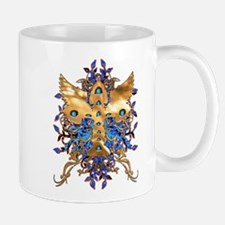 ORNATE DESIGN ON BLUE BACKGRO Mug