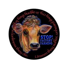 "Cute Factory farming 3.5"" Button"