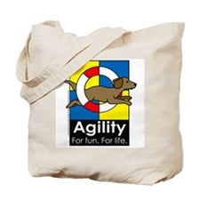 Agility For Fun For Life Tote Bag
