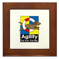 Agility For Fun For Life Framed Tile