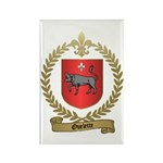 OUELETTE Family Crest Rectangle Magnet