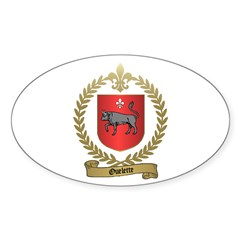 OUELETTE Family Crest Oval Decal