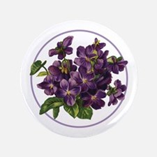 "Bouquet of Violets 3.5"" Button"