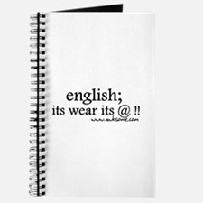 """English; its wear..."" Journal"