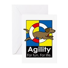 Agility For Fun For Life Greeting Cards