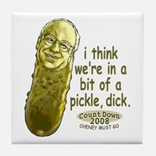 Pickle Dick Cheney Tile Coaster