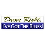 Damn Right, I've Got The Blues Bumper Sticker