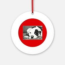 American Bulldog Pup Ornament, Option 3