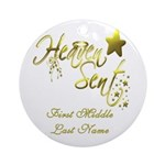 PERSONALIZED Heaven Sent Ornament (Round)