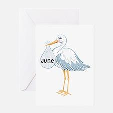 June Stork Greeting Card