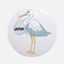 June Stork Ornament (Round)