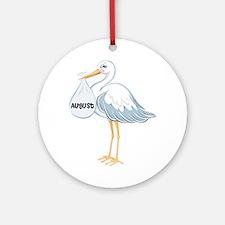 August Stork Ornament (Round)