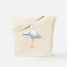 October Stork Tote Bag