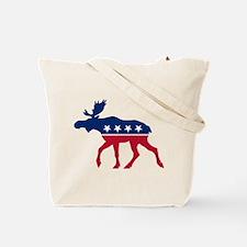 Sarah Palin Moose (front and back) Tote Bag