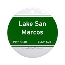 Lake San Marcos Ornament (Round)