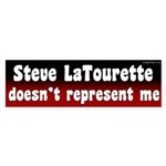 Steve LaTourette Doesn't Represent Me Sticker