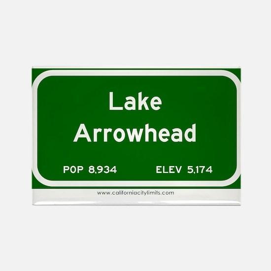 Lake Arrowhead Rectangle Magnet