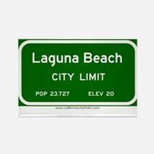 Laguna Beach Rectangle Magnet
