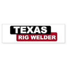 Texas Rig Welder Bumper Bumper Stickers