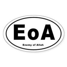 Enemy of Allah Oval Decal