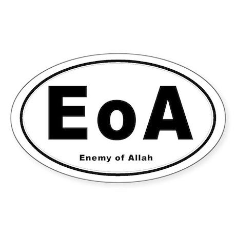 Enemy of Allah Oval Sticker