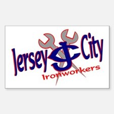 JERSEY CITY JERSEY Rectangle Decal