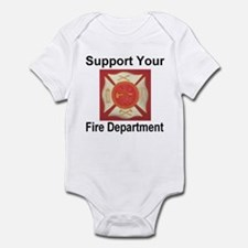Support Your Fire Department Infant Bodysuit