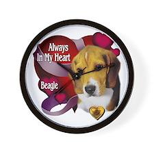 Beagle_Always In My Heart Wall Clock