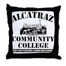 ALCATRAZ COMMUNITY COLLEGE-BA Throw Pillow
