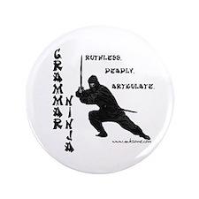 """Grammar Ninja"" 3.5"" Button"