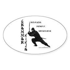 """Grammar Ninja"" Oval Decal"
