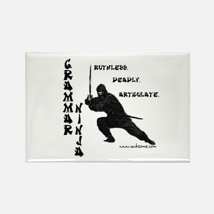 """Grammar Ninja"" Rectangle Magnet"