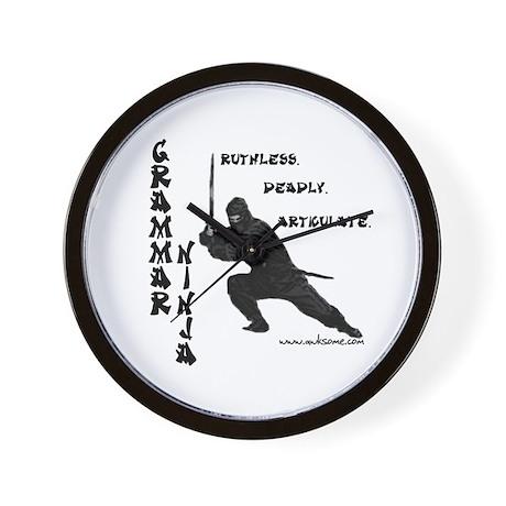 """Grammar Ninja"" Wall Clock"