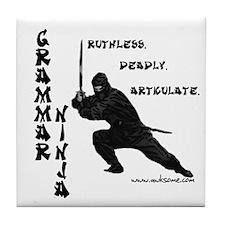 """Grammar Ninja"" Tile Coaster"
