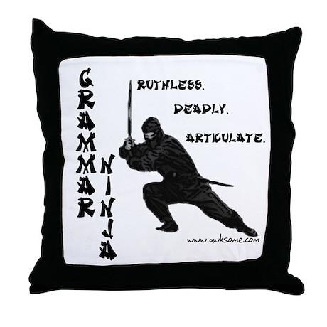 """""""Grammar Ninja"""" Throw Pillow"""