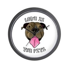 Love is The Pits Wall Clock