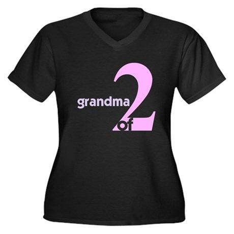 Mommy and Grandma Shirts Women's Plus Size V-Neck