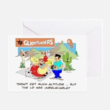 DIDN'T GET MUCH ALTITUDE ... Greeting Card