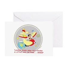 ... A LITTLE HIGH ON FINAL .. Greeting Card