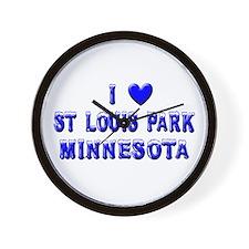I Love St. Louis Park Winter Wall Clock