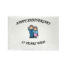 Funny 35th wedding anniversary Rectangle Magnet