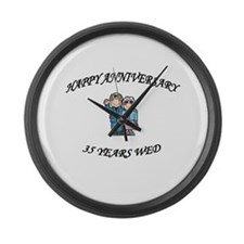 Cool Couple Large Wall Clock