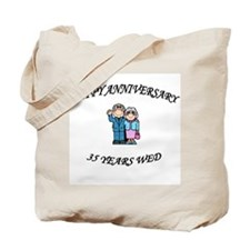 Cute 35th wedding anniversary Tote Bag