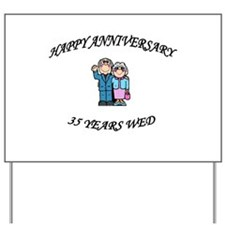 Unique 35th wedding anniversary Yard Sign