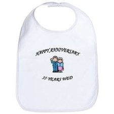 Unique 35th wedding anniversary Bib
