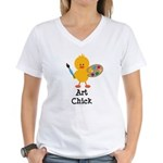 Art Chick Women's V-Neck T-Shirt