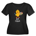 Art Chick Women's Plus Size Scoop Neck Dark T-Shir