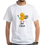 Art Chick White T-Shirt