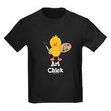 Art chick Kids T-shirts (Dark)